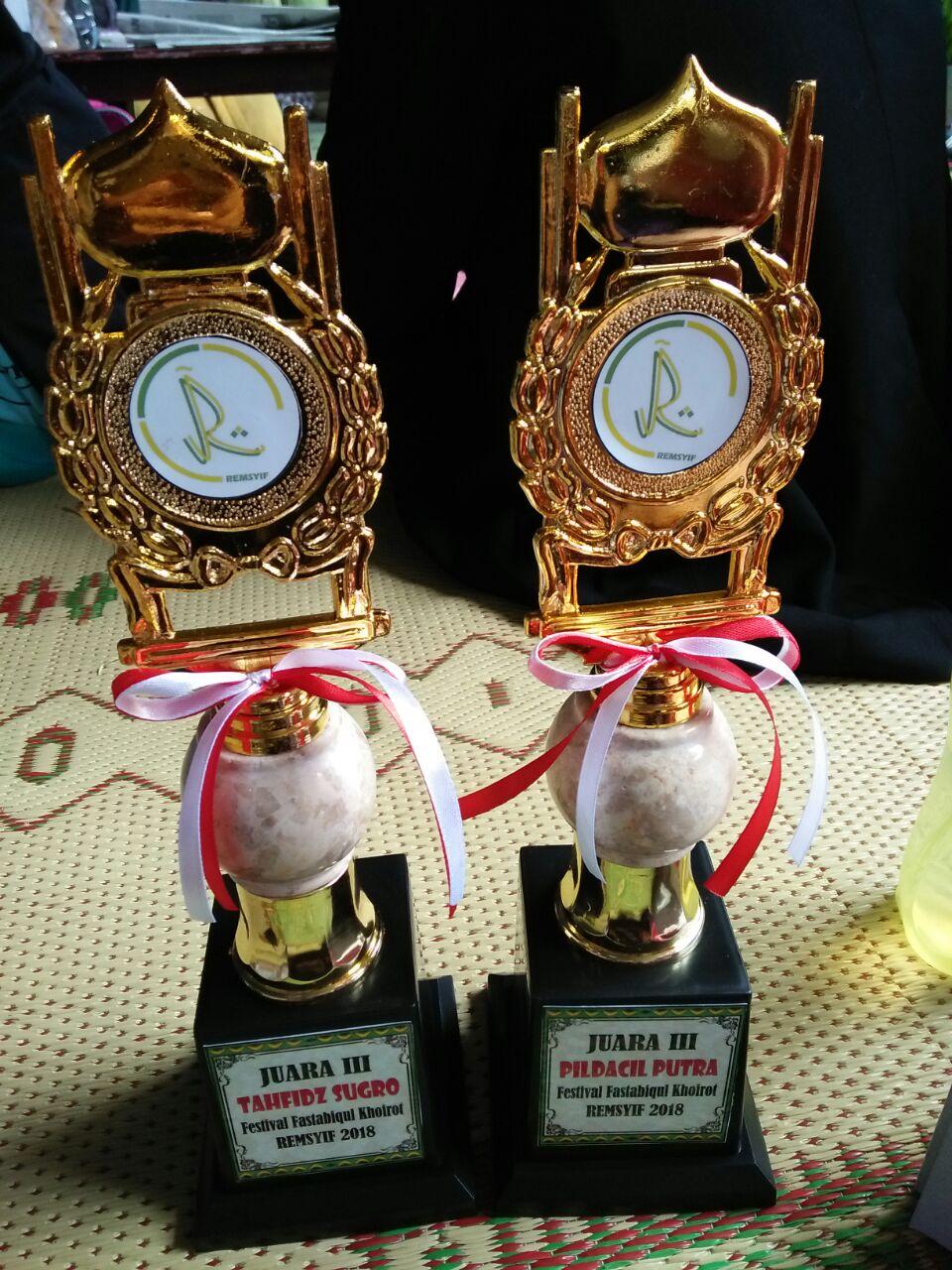 """Juara 3 Lomba Pildacil dan Tahfidz pada acara: """"Festival Fastabiqul Khoirot Generasi Pencinta Masjid"""""""