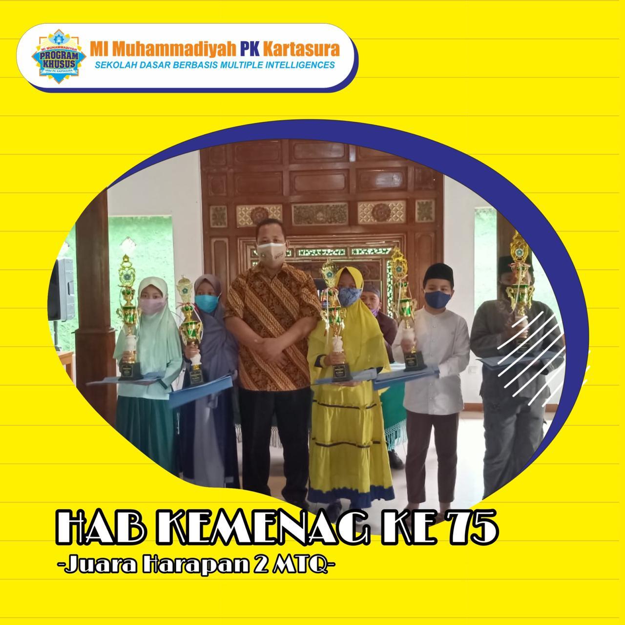 Juara Harapan 2 Lomba HAB kemenag ke - 75 Tingkat Kabupaten Sukoharjo 2021